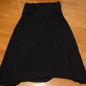 Splendid black jersey midi skirt